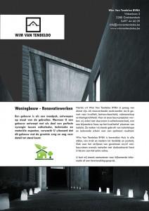 Flyer voor architecten